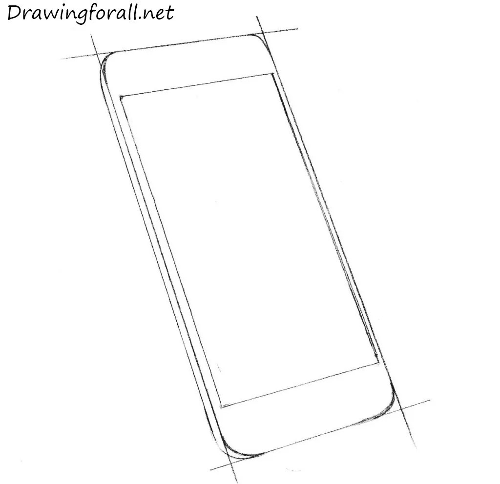 How To Draw An Iphone