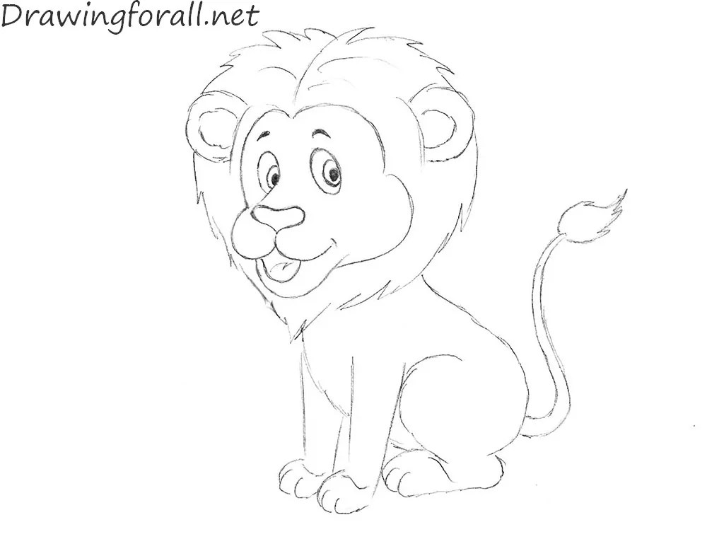 How To Draw A Lion For Kids Drawingforall Net