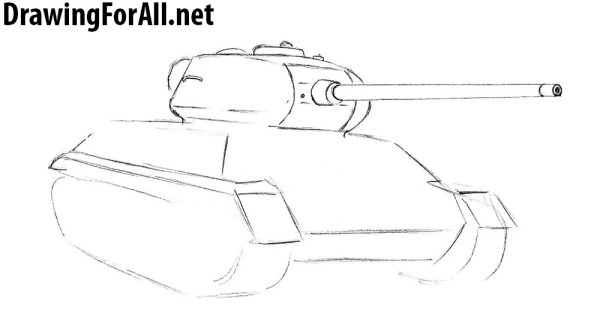 How to Draw Tank T-34   Drawingforall.net