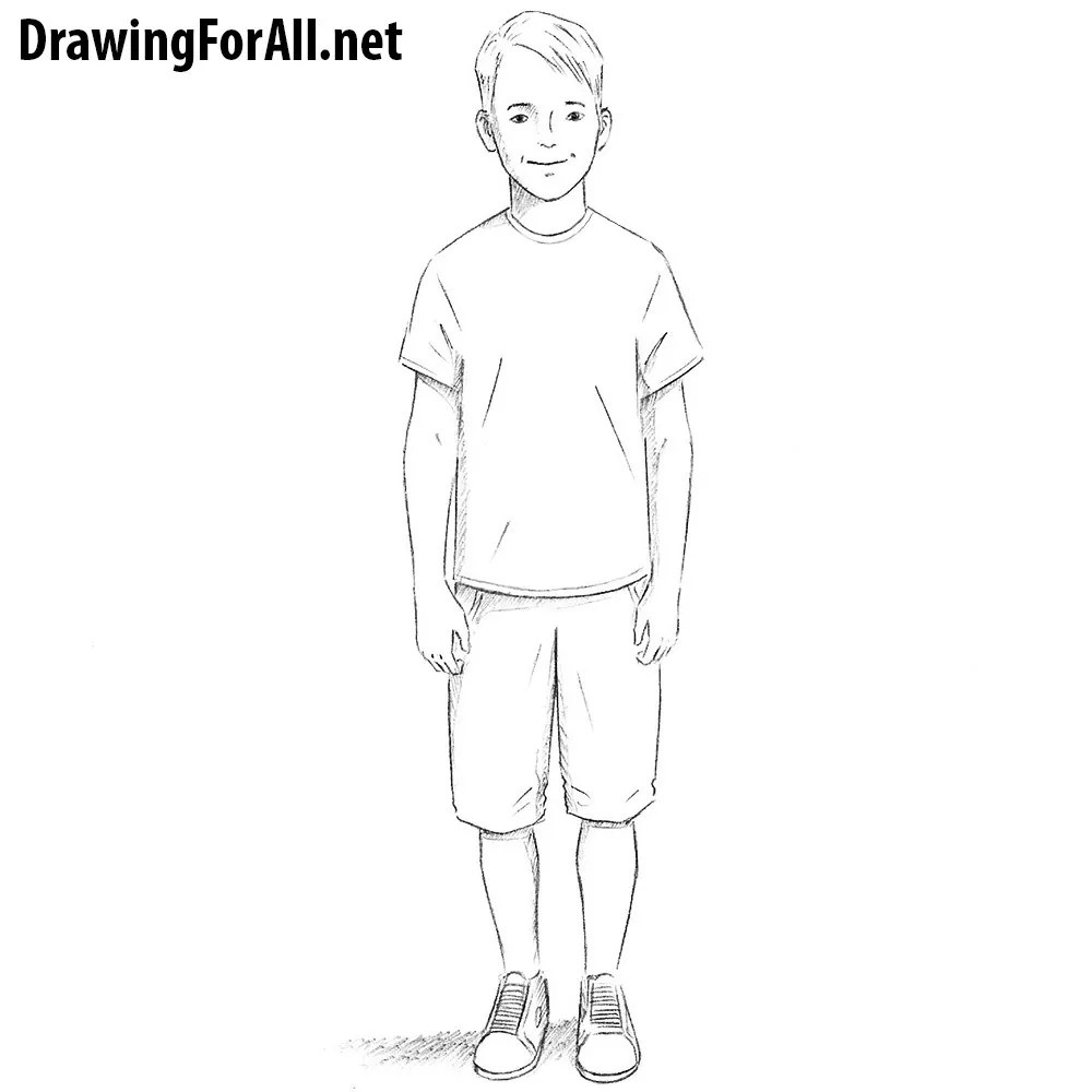 How To Draw A Boy Drawingforall Net