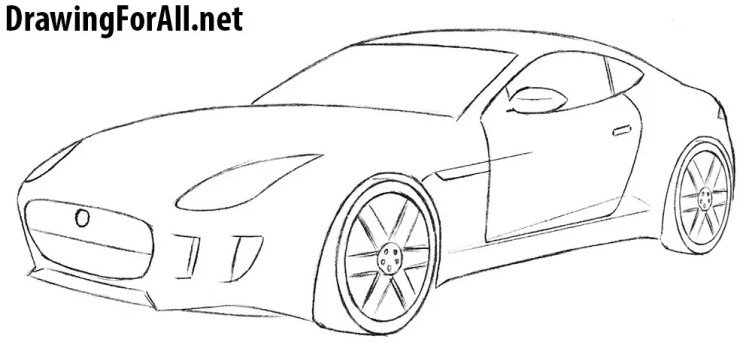 How to Draw a Jaguar Car | Drawingforall.net