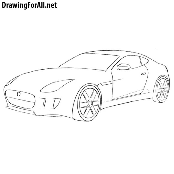 How to Draw a Jaguar Car | Drawingforall.net