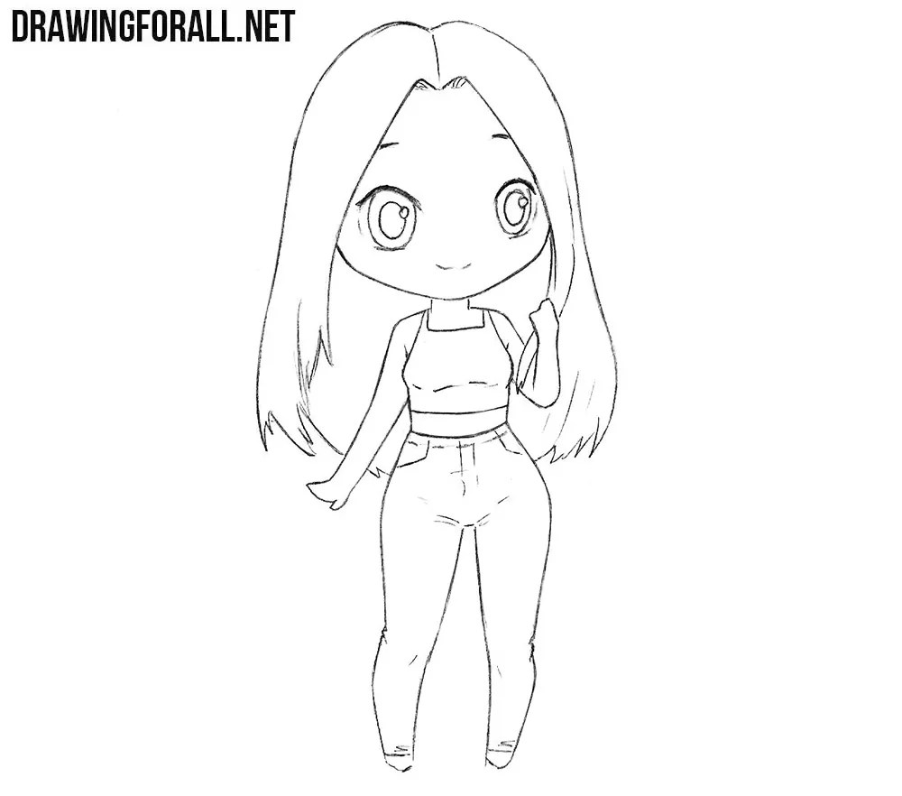 how to draw a chibi girl