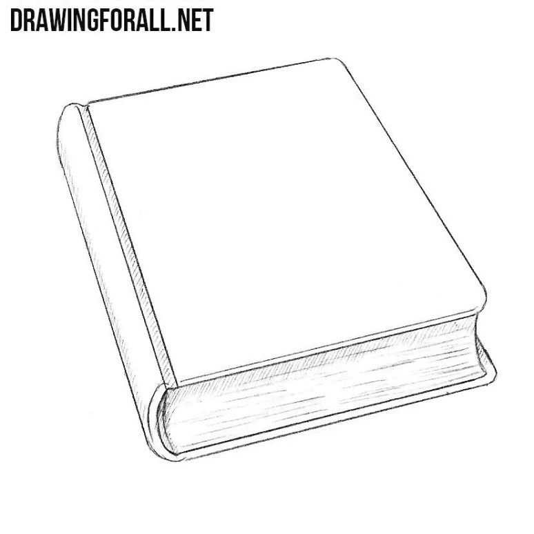 How to Draw a Closed Book   Drawingforall.net