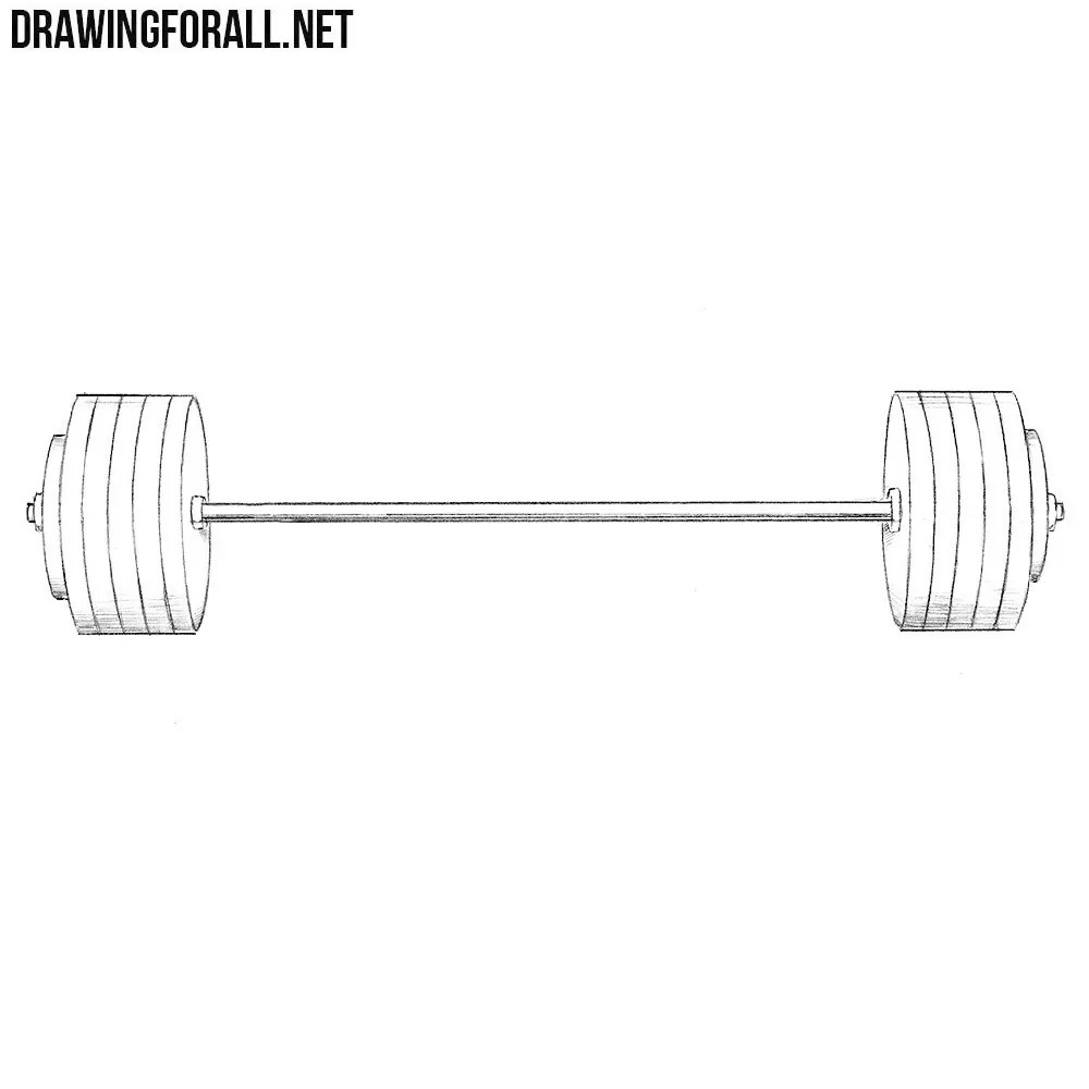 How To Draw A Barbell Drawingforall Net