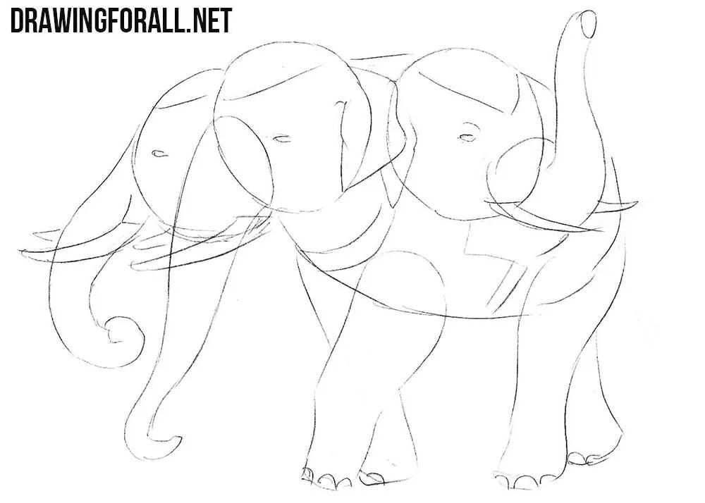 How To Draw Airavata Drawingforall Net