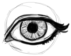 Step 8 : Drawing Realistic Eyes with Simple Steps