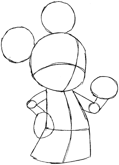 How To Draw King Mickey From Kingdom Hearts With Easy Step