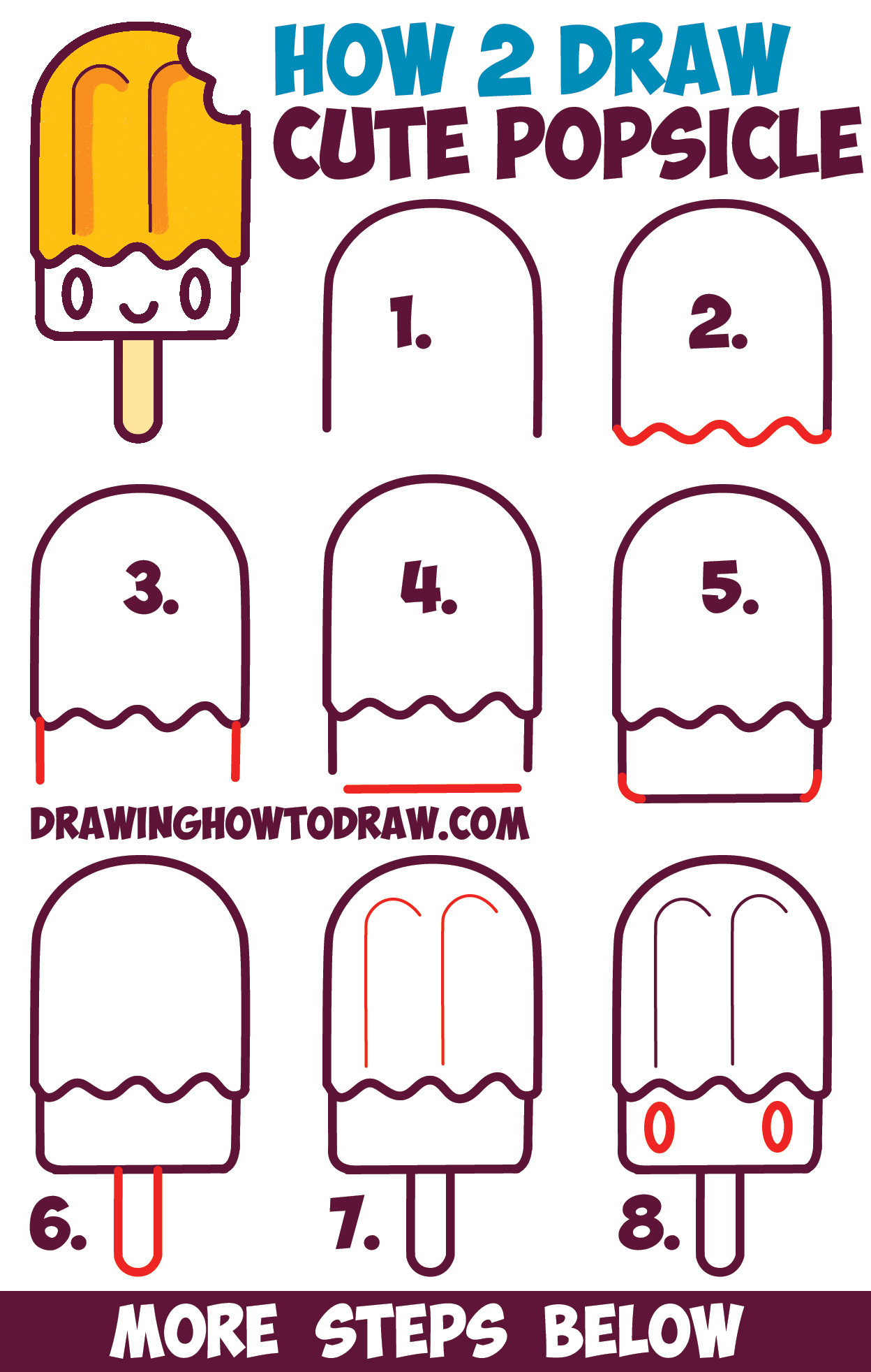 Learn more by aaron blaise. How to Draw Cute Kawaii Popsicle / Creamsicle with Face on ...