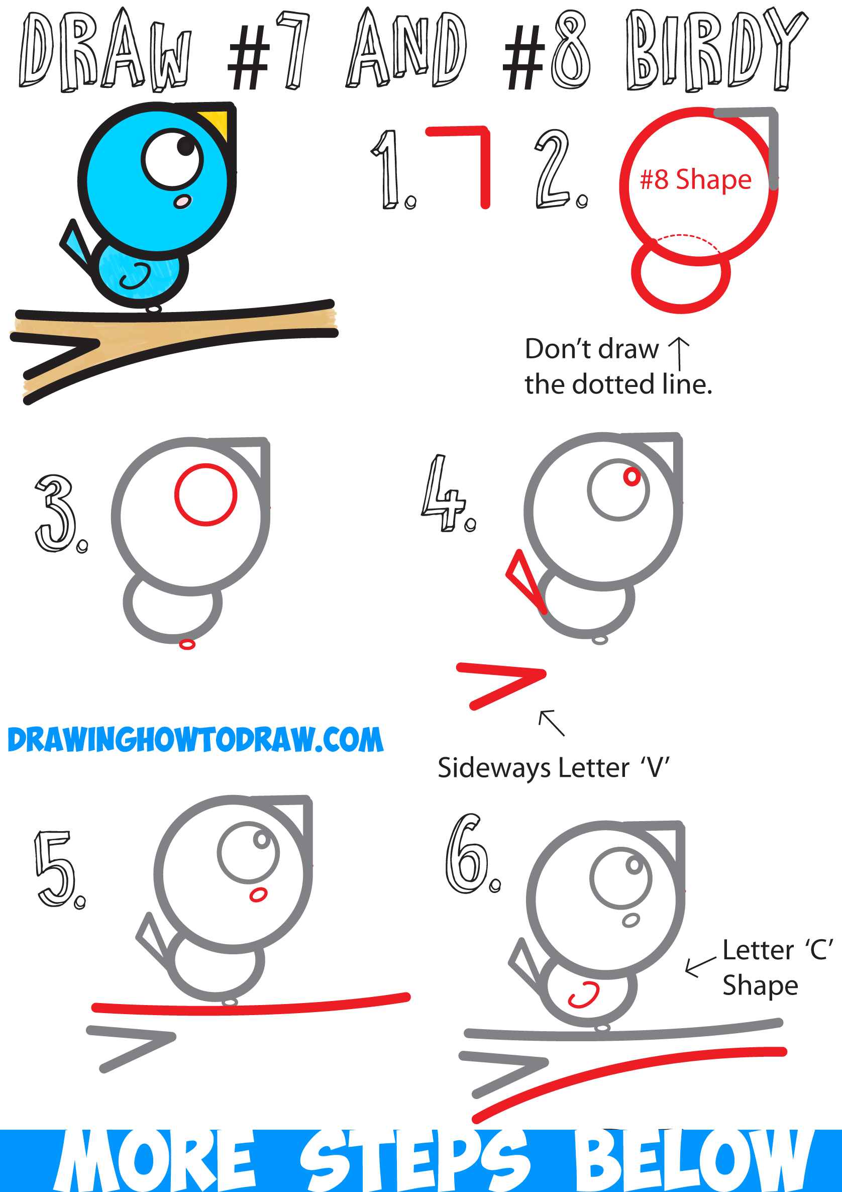 More from easy drawing art. How to Draw a Bird on a Branch Easy for Kids Step by Step ...
