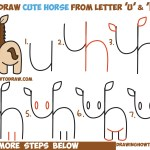 How To Draw A Cute Kawaii Chibi Horse From Letters And Simple Shapes Easy Step By Step Drawing Tutorial For Kids How To Draw Step By Step Drawing Tutorials