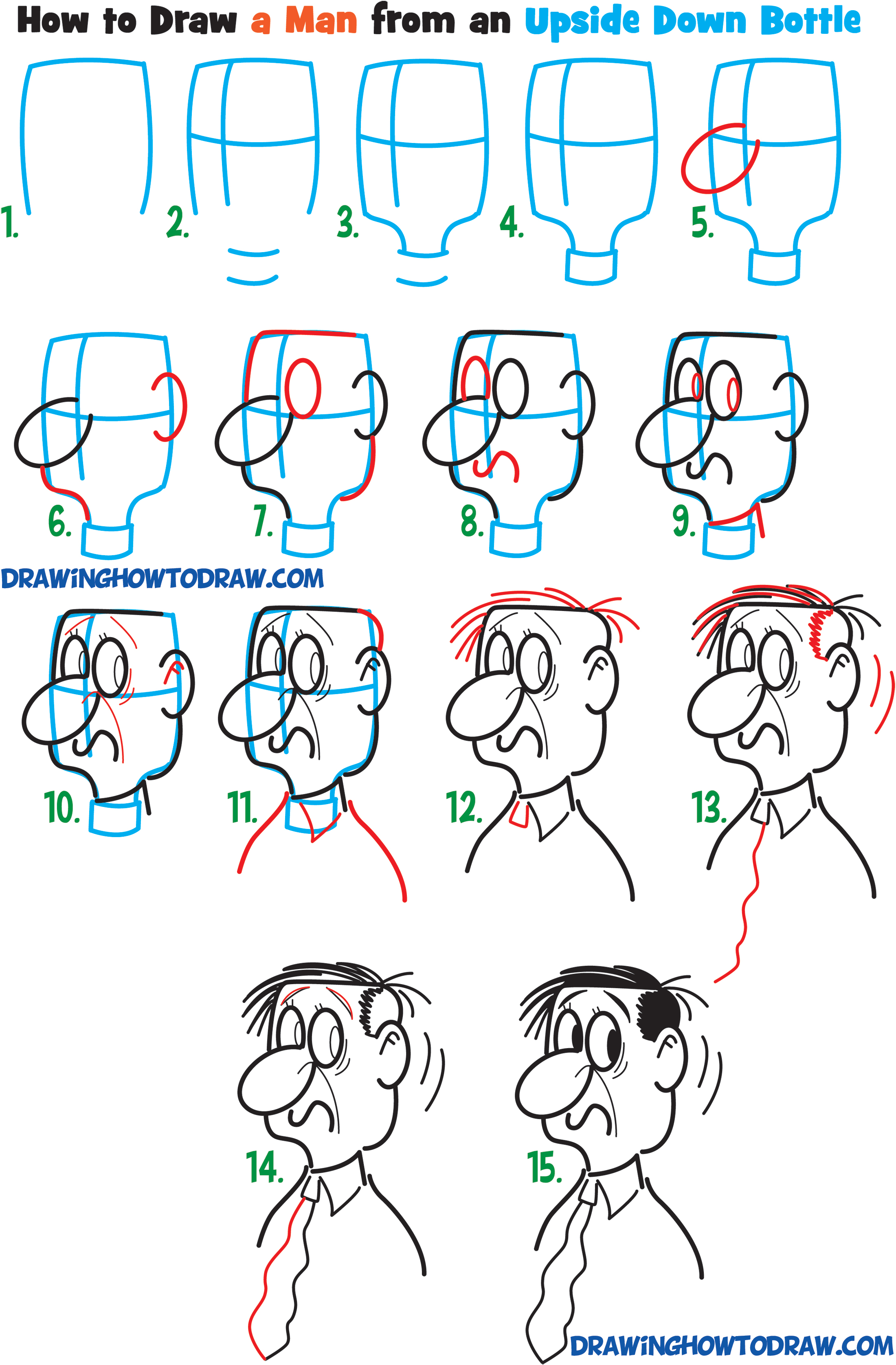 Learn How To Draw Cartoon Men Character S Faces From