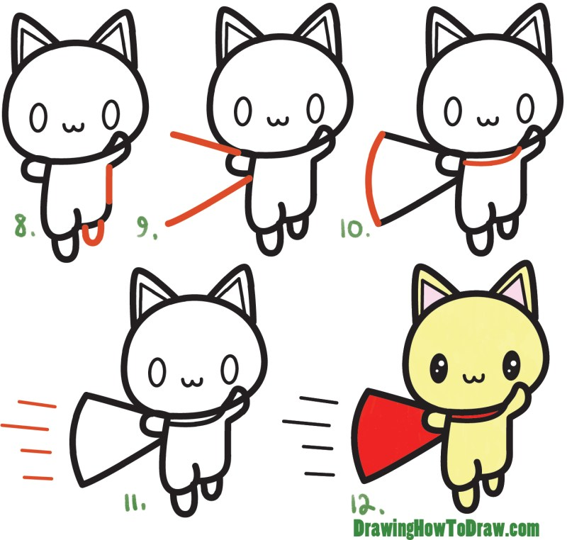 How To Draw Cute Cats Easy