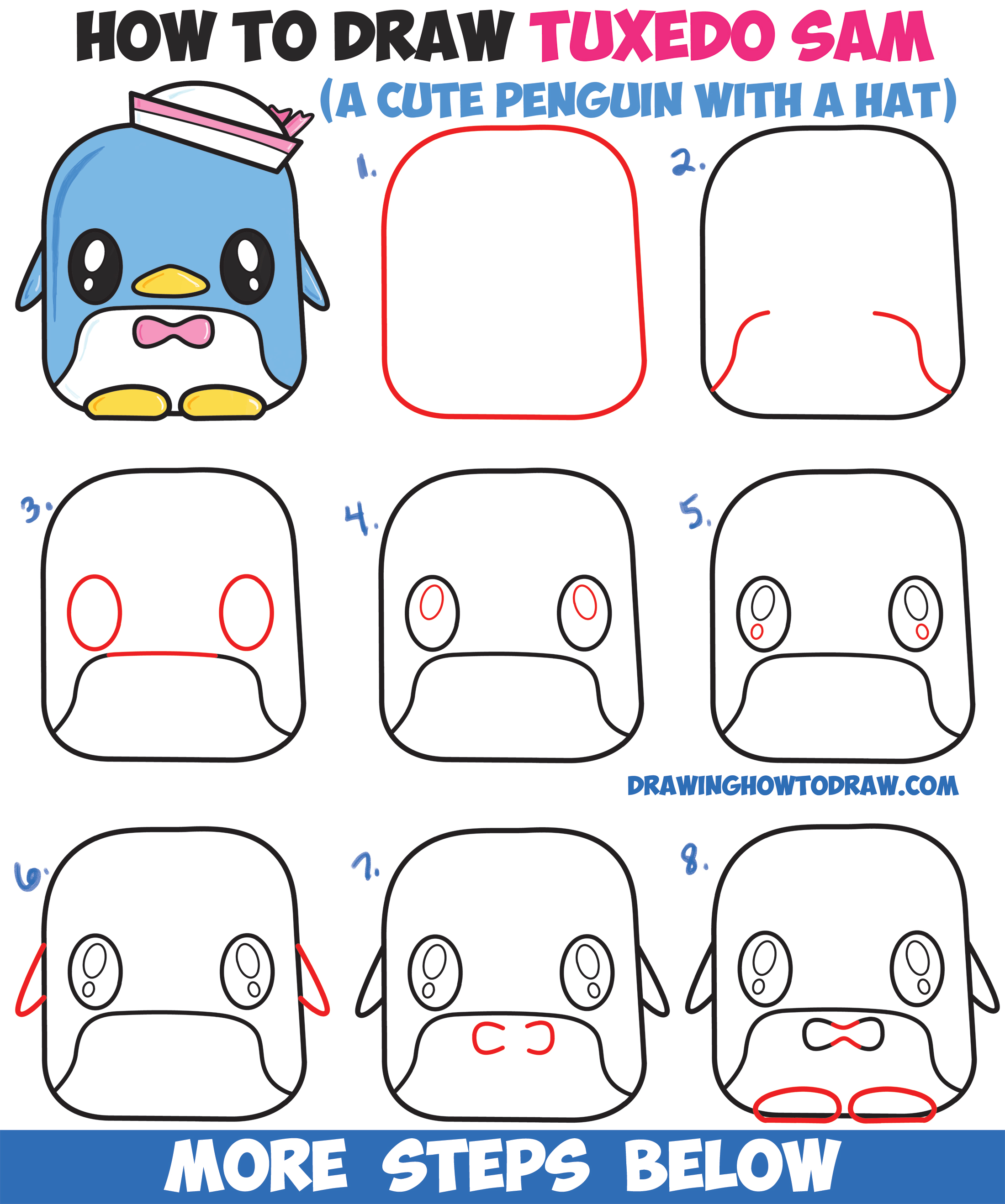 Lucky for us, these proud moms and dads caught their babies' flubs on film. How to Draw Tuxedo Sam (Cute Kawaii Penguin) From Hello ...