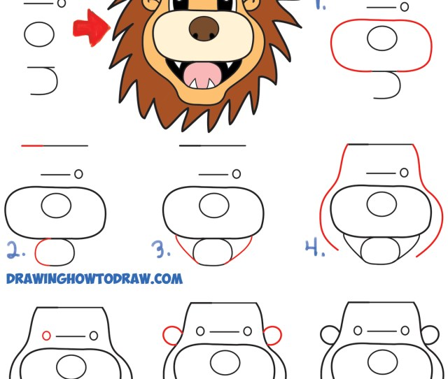 How To Turn The Word Lion Into A Cartoon Lion Easy Step By
