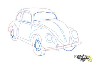 How to Draw a Volkswagen Beetle  DrawingNow