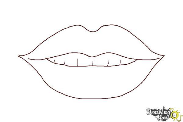 lip mustache outline template