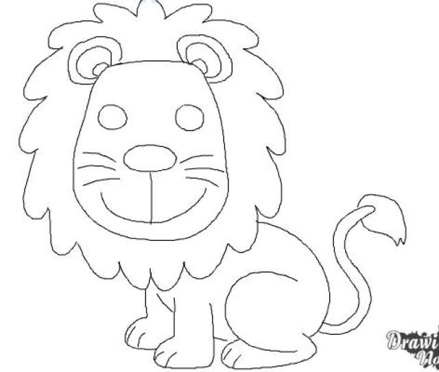 How To Draw A Lion For Kids Step