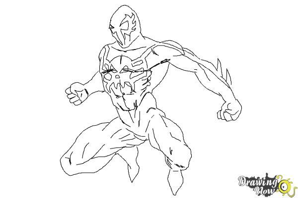 spider man 2099 venom coloring pages