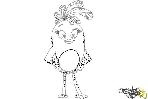 How To Draw Stella From The Angry Birds Movie DrawingNow