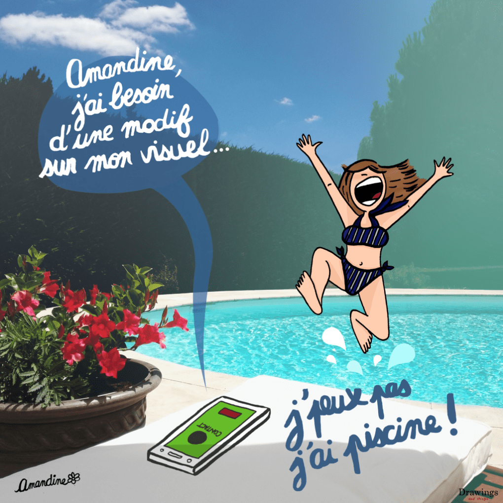 J'peux-pas-j'ai-piscine-work-Illustration-Drawingsandthings