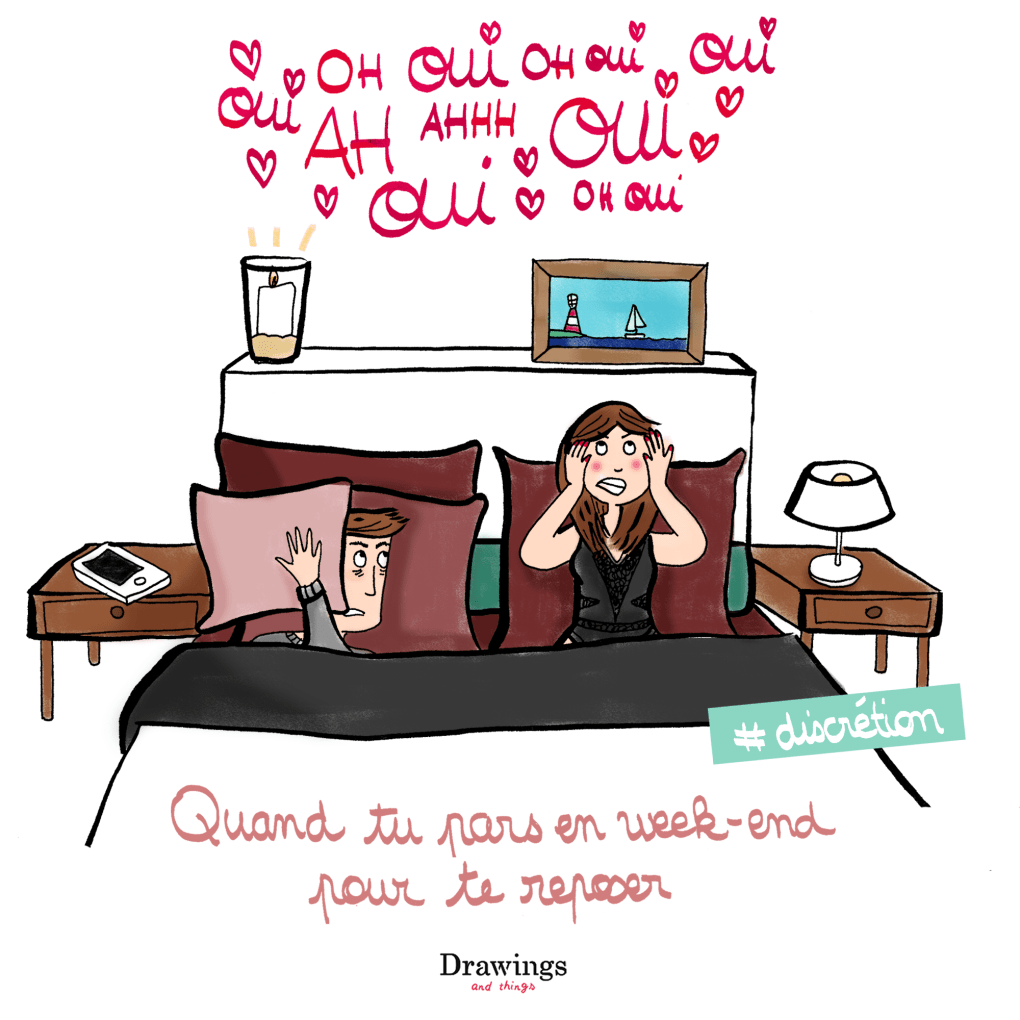 Faites l'amour en silence, même en vacances - Illustration by Drawingsandthings