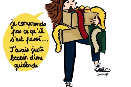 Faire les magasins pour son sapin de Noël - Illustration by Drawingsandthings