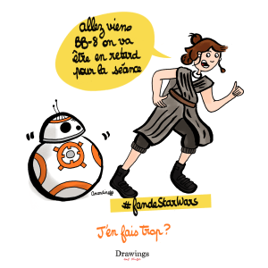 La sortie de Star Wars 8 - Illustration by Drawingsandthings