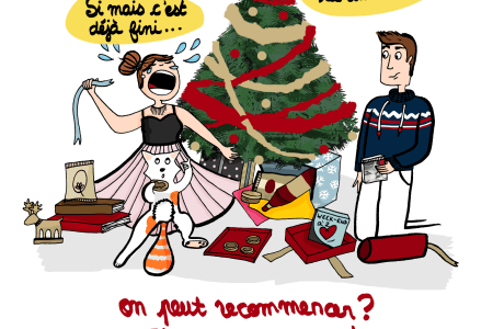 On peut recommencer Noel ? J'étais pas prête - Illustration by Drawingsandthings