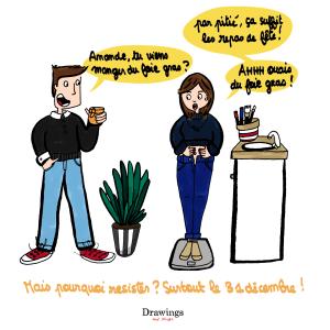 Ca suffit les repas de fête - Réveillon - Illustration by Drawingsandthings