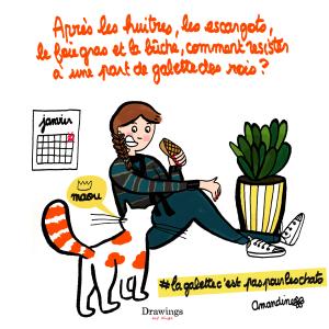 La galette des rois - Illustration by Drawingsandthings