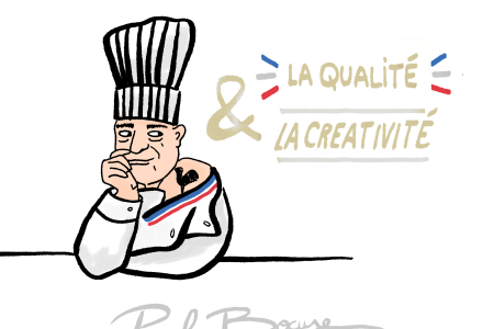 Hommage à Paul Bocuse - Illustration by Drawingsandthings