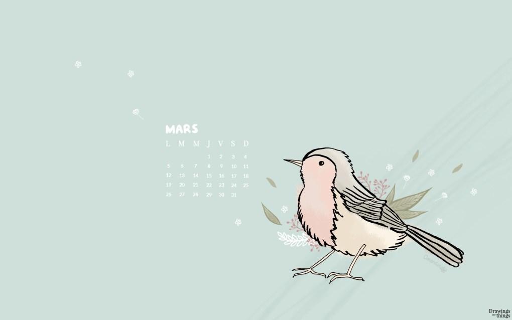 Printables et Wallpaper de Mars 2018 à télécharger sur Drawings and things