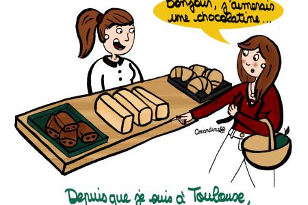 Pain au chocolat ou chocolatine - Illustration-by Drawingsandthings