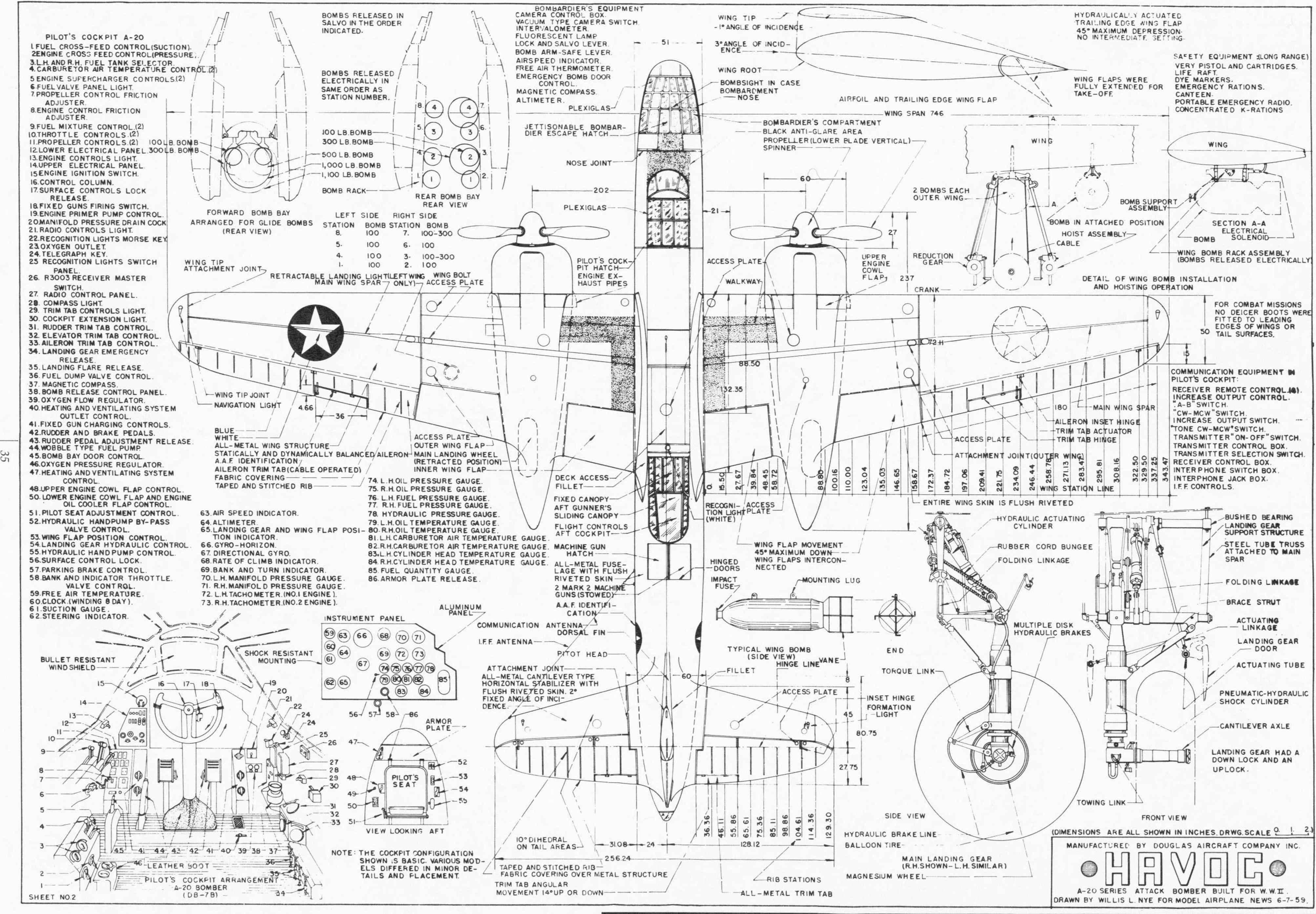Airplane Engineering Drawing