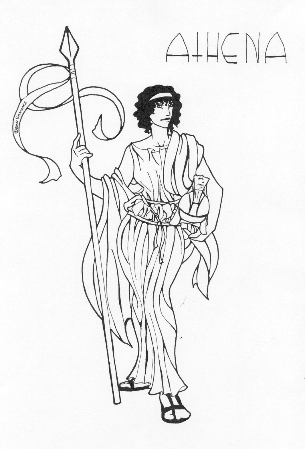 Greek Mythology Drawing Pencil Sketch Colorful