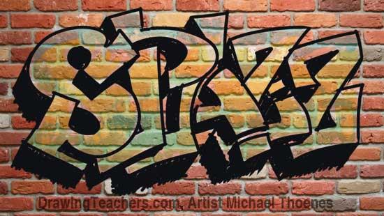 Draw Graffiti Letters SPAZZ