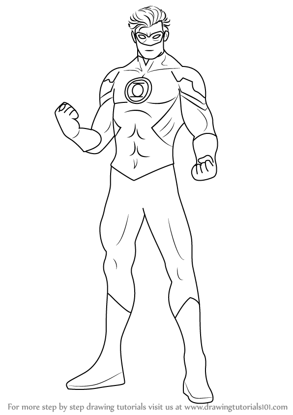 Learn How To Draw Green Lantern Green Lantern Step By Step Drawing Tutorials