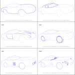 How To Draw Vintage Ferrari Printable Step By Step Drawing Sheet Drawingtutorials101 Com