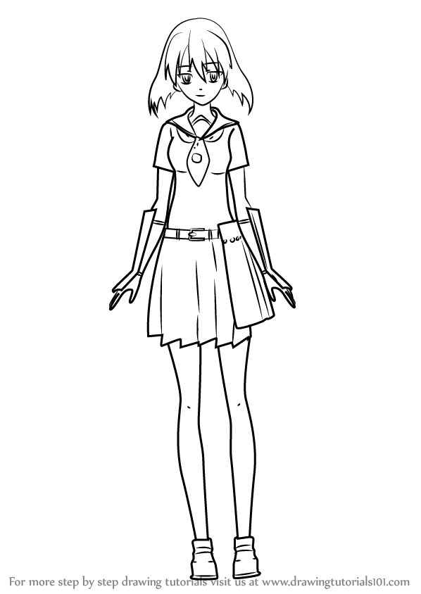 Learn How To Draw Kurome From Akame Ga Kill Akame Ga Kill