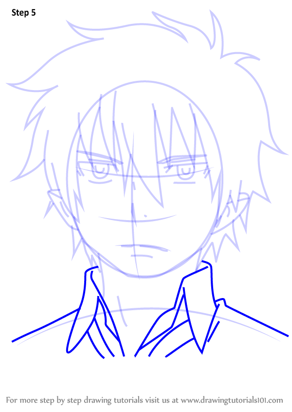 Step By Step How To Draw Rin Okumura From Ao No Exorcist