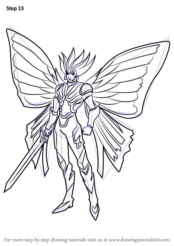 Learn How To Draw Crimson Butterfly Brigitte From