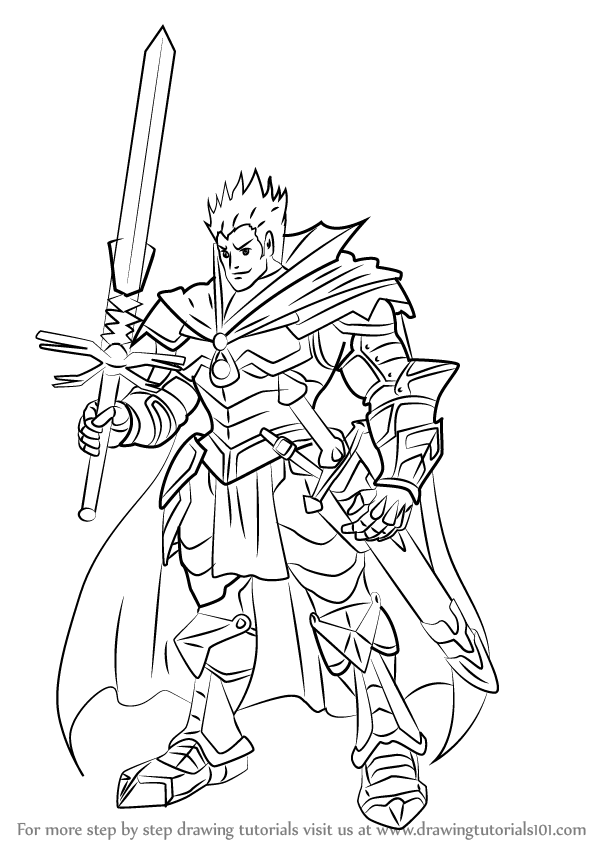 Knight Coloring Pages With A Arrow In It