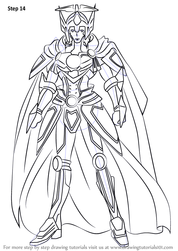 Learn how draw solitary knight gancelot cardfight, coloring pages