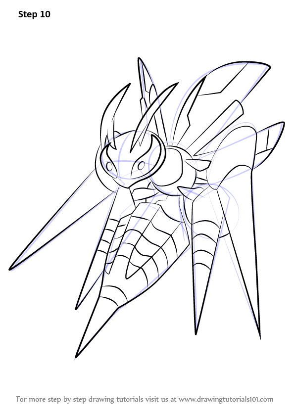 Learn How To Draw Mega Beedrill From Pokemon Pokemon