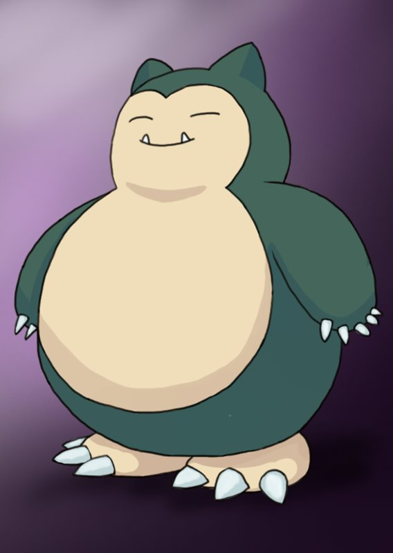 Step By Step How To Draw Snorlax From Pokemon
