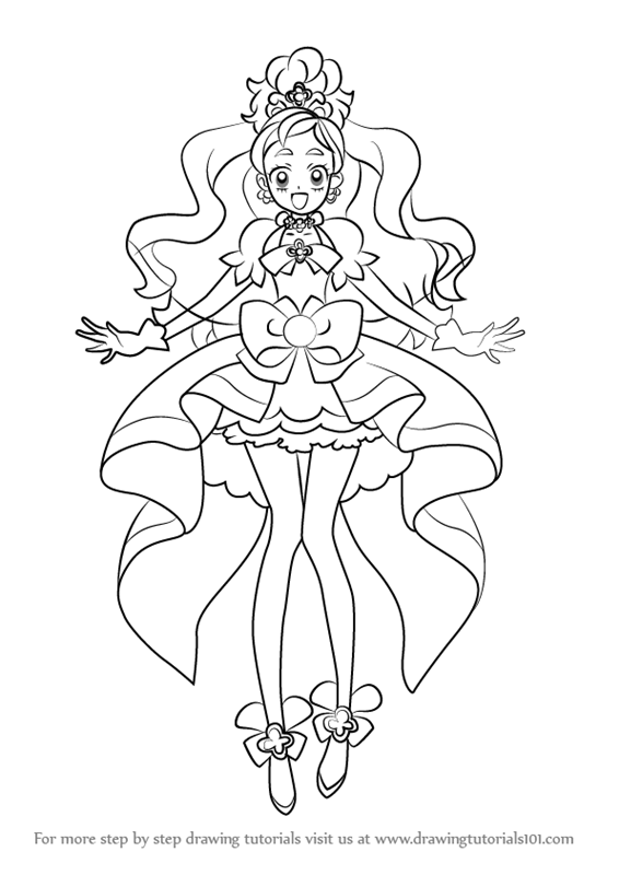 Learn How To Draw Cure Flora From Pretty Cure Pretty Cure