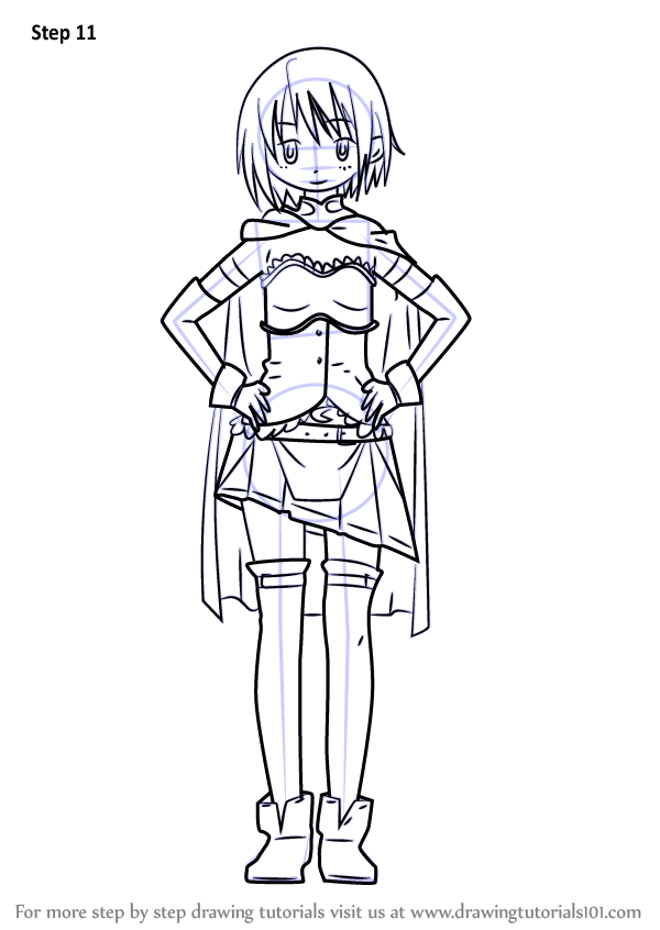 Step By Step How To Draw Sayaka Miki From Puella Magi