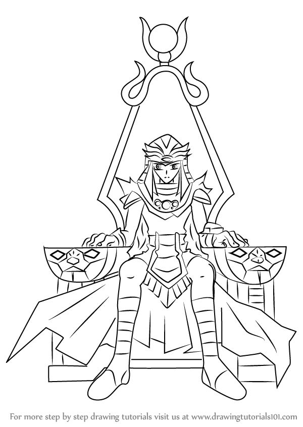 Learn How To Draw Abidos The Third From Yu Gi Oh GX Yu