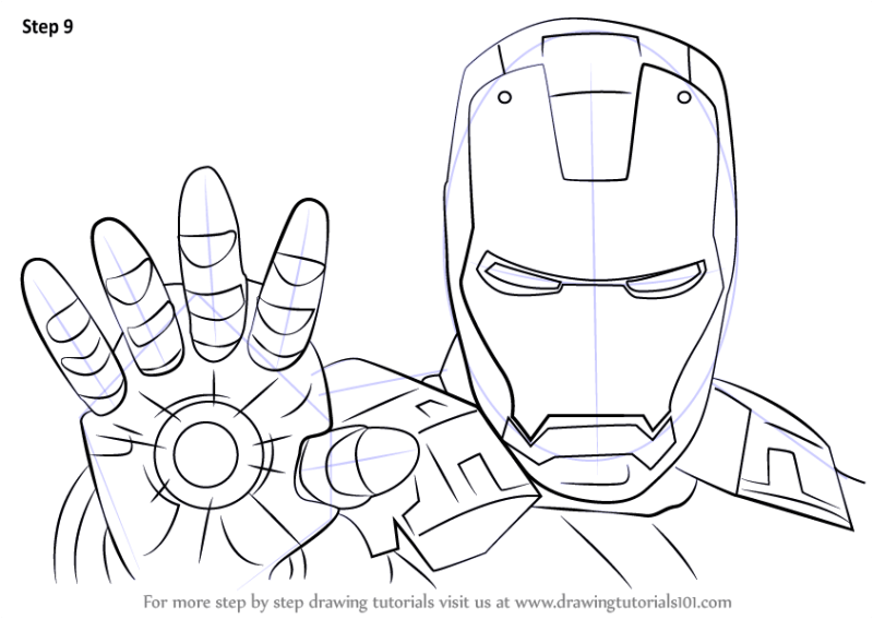How To Draw Iron Man Step By Full Body Easy | Howsto.Co